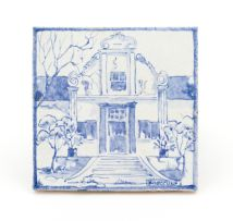 A Ceramic Studio white-glazed tile
