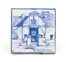 A Ceramic Studio white-glazed tile, 1926