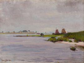 Frans Oerder; Harbour Landscape