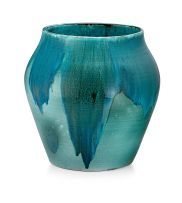A Ceramic Studio green-glazed vase, 1938
