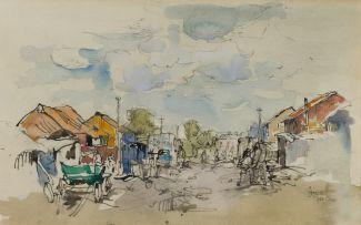 Gregoire Boonzaier; Street Scene