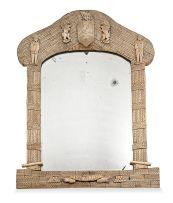 A French Napoleonic Prisoner-of-War bone commemorative 'TRAFALGAR' mirror