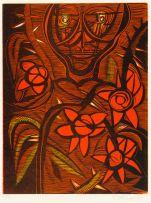 Cecil Skotnes; Portrait and Flowers