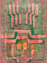 Bettie Cilliers-Barnard; Abstract in Red and Green