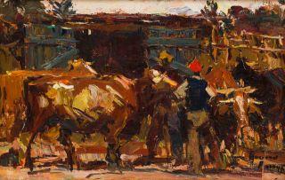 Adriaan Boshoff; Herding Cattle