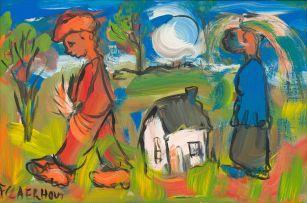 Frans Claerhout; Figures in a Landscape