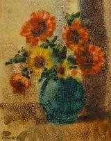 Otto Klar; Vase of Flowers