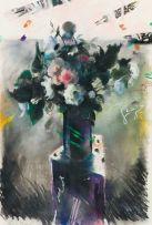 Louis van Heerden; Vase with Roses