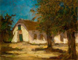 Nita Spilhaus; House and Trees