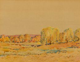 Walter Battiss; Willows along River Bank