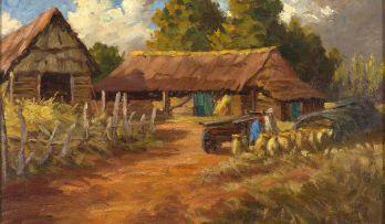 Allerley Glossop; Farm Scene