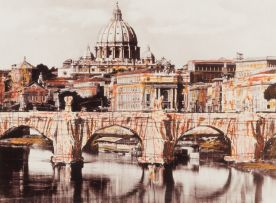 Christo and Jeanne-Claude; Ponte Sant'Angelo, Wrapped, Project for Rome