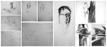 Nils Burwitz; A Collection of Ten Pencil Sketches