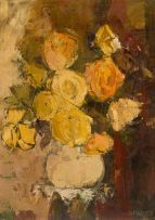 Frank Spears; Still Life with Flowers in a Vase