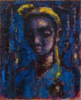 Gerard Sekoto; Portrait Bleu (Girl)