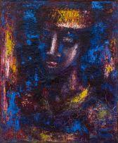 Gerard Sekoto; Portrait Bleu (Boy)