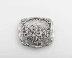 A German silver snuff box, with English import marks for Berthold Muller, London, 1897