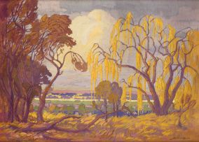Jacob Hendrik Pierneef; Willow Trees, Rooiplaat