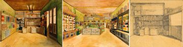 Jacob Hendrik Pierneef; Lodewijk de Jager & Co. Tobacconist Shop; three