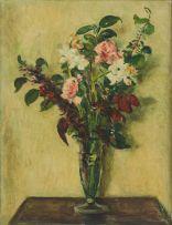 Robert Broadley; Vase of Flowers