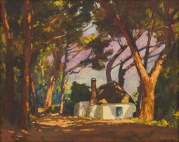 Edward Roworth; Cottage Among Trees