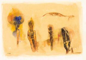 Cecil Skotnes; Figures in a Landscape