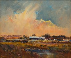 Gerrit Roon; Landscape with Clouds