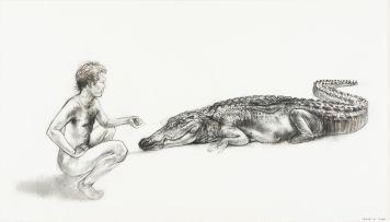 Diane Victor; Man and Crocodile