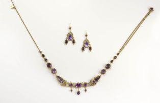 Amethyst necklace, 19th century