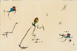 Joan Miró; Abstract, Barcelona 1972-73 Series, No. 11