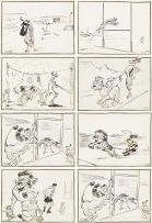 Victor Archipovich Ivanoff; Cartoons of 1955 British Lions Rugby Tour to South Africa and South African Cricket Tour to England, eight
