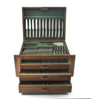 A canteen of Kings pattern Angora plate cutlery, Sheffield, 20th century