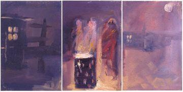 Ricky Ayanda Dyaloyi; Warmed by the Fire, triptych