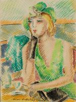 Pierre de Belay; Seated Woman with Green Hat
