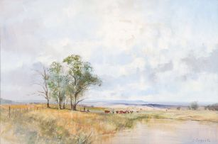 Christopher Tugwell; Landscape with Herders and Cattle