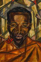 François Krige; Portrait of a Basuto Man