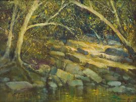 Christopher Tugwell; Trees at Water's Edge