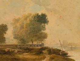 Peter de Wint; River Scene