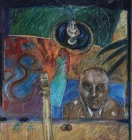 Louis Jansen van Vuuren; Composition with Fountain and Figures