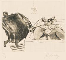 William Kentridge; Bath Towel, from Domestic Scenes Series