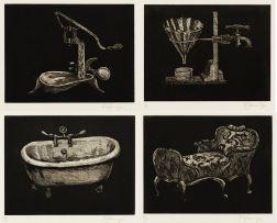 William Kentridge; Black Objects, four