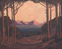 Jacob Hendrik Pierneef; A View Through the Trees
