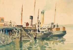 Nils Andersen; Harbour Scene