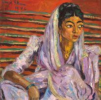 Irma Stern; The Mauve Sari