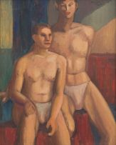 Alexis Preller; Two Male Nudes