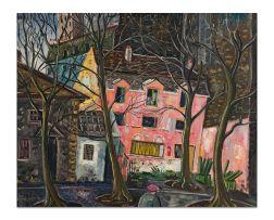 Eugene Labuschagne; Pink Facade, Paris
