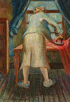 Eugene Labuschagne; Ironing Lady (The Artist's Wife)