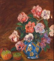 Kenneth Baker; Still Life with Flowers and Apples