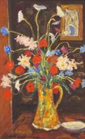Kenneth Baker; Still Life with Orange Flowers
