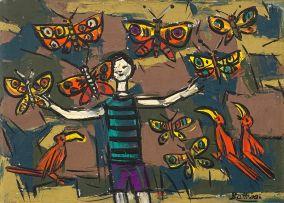 Walter Battiss; Boy with Butterflies